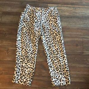 J.Crew Easy Pant in Leopard